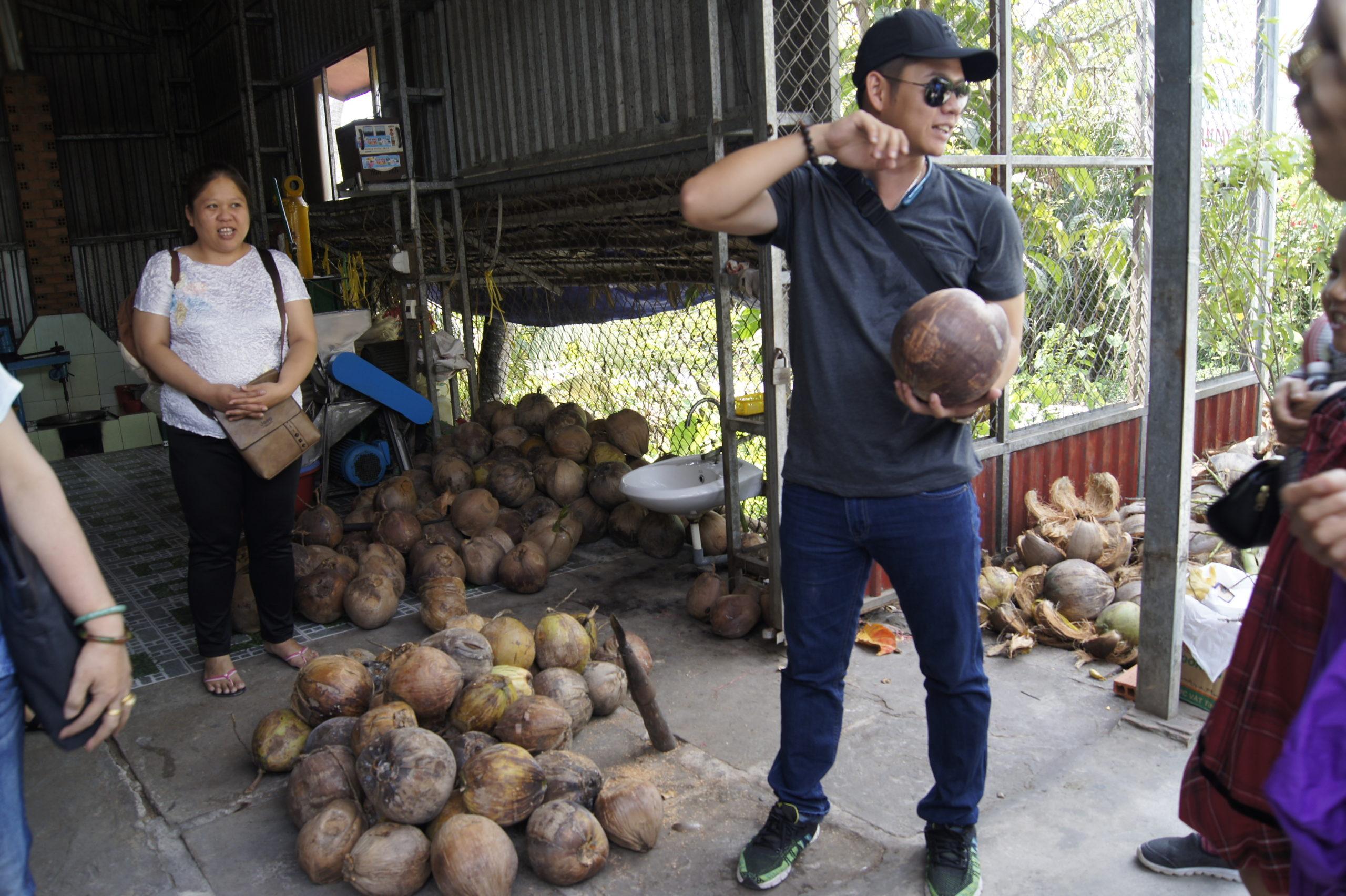 fabryka cukierków kokosowych w Wietnamie
