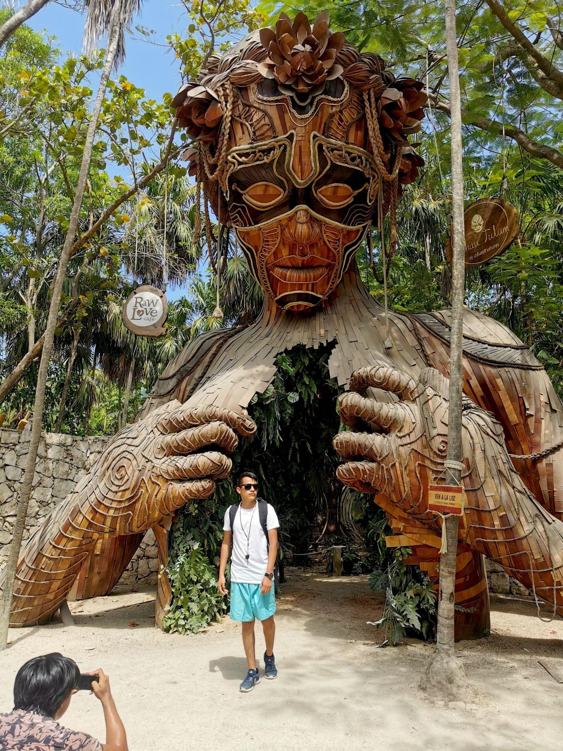 rzeźba do zdjęć w Meksyku atrakcja
